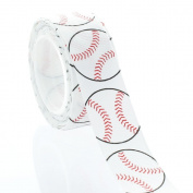 2.2cm Baseball Grosgrain Ribbon 5 Yard