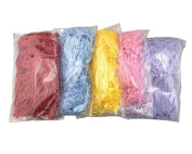 Yueton 100 Gramme 5 Different Colour Raffia Grass Decorative Paper for Gift Box