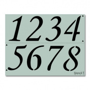 House Numbers, Address Numbers Custom Stencil 22cm x 28cm