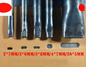 WellieSTR 5 Size Oval Drive Leather Punch - 2*7mm/3*6mm/3*8mm/4*7mm*26*5mm