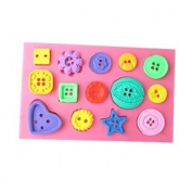 14 Cavity Silicone Fondant Mould Mould Cake Sugar paste Decorating Button pattern Baking Tool