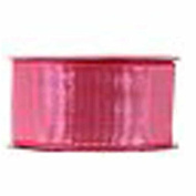 Fabric Wire-Edge Ribbon - 2.5cm - 1.3cm X 2.7m Pink