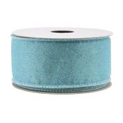 Spritz Fabric Ribbon - 2.5cm - 1.3cm X 3.7m Turquoise