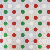 JAM Paper® Christmas Design Wrapping Paper- 2.3sqm - Silver Christmas Polka Dots - Sold Individually