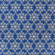 JAM Paper® Christmas Design Wrapping Paper- 2.3sqm - Blue & Silver Snowflakes - Sold Individually