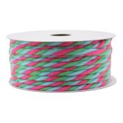 Gift Wrap Spritz Fabric Ribbon 11m Brights Yarn