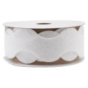 Spritz Fabric Felt Wavy Ribbon -3.7m White Felt