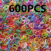 600pcs Package Rubber Band Loom Bands Girls DIY Bracelet Opp Bag Hottest Loom bands Refills, loom rubber bands - Mixed Colour