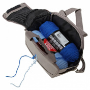 Home-X Portable Canvas Yarn Bag with Hole for Yarn in Use