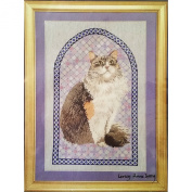 Agneatha Cathedral Patchwork Counted Cross Stitch Kit 11 x 17 Ivory Cats Designs
