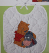 Disney Pooh & Eeyore Bib Stamped Cross Stitch Kit #1132-82