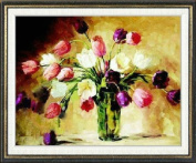 This nice Tsu cross stitch embroidery kit oil painting style tulip L307