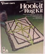 Green Tile Hook It Designer Rug # 4323 Latch Hook Craft Kit