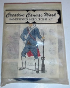 Handprinted Needlepoint Kit - American Revolution Soldier 2