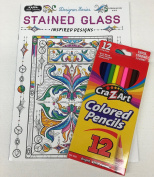 "Adult Colouring ""Stained Glass Inspired Designs"""