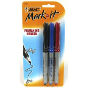Bic 3PC Assorted Colour Fine Point Permanent Markers