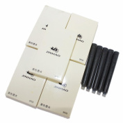 AutumnFall® 25 PCS Jinhao International Size Pen Ink Cartridge Black for Fountain Pens