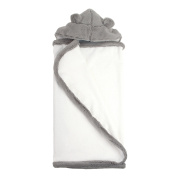 My Blankee Hooded Terry Luxe Towel, Silver, 70cm x 110cm