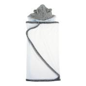My Blankee Minky Dot Hooded Terry Towel, Charcoal, 70cm x 110cm