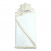 My Blankee Hooded Terry Luxe Towel, Cream, 70cm x 110cm
