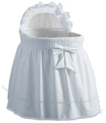 Baby Doll Sea Shell Bassinet Liner, Blue
