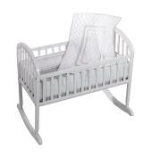 Baby Doll Soho Cradle Bedding Set, Grey