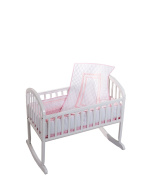 Baby Doll Soho Cradle Bedding Set, Pink