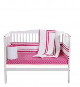 Baby Doll Soho Port-a-Crib Bedding Set, Red