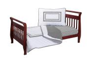 Baby Doll Soho Toddler Bedding Set, Grey