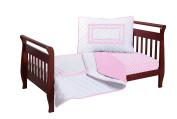 Baby Doll Soho Toddler Bedding Set, Pink