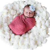iEFiEL Baby Girls Boys Soft Basket Picture Shooting Backdrop Prop