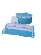 Baby Doll Regal Cradle Bedding Set, Aqua