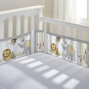 BreathableBaby Breathable Mesh Crib Liner - Safari Fun 2