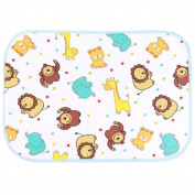 Three Layer Fabric Waterproof Baby Mat Infant Crib Sheet 50 x 70 Lion