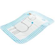 Cute Waterproof Breathable Infant Crib Sheet Baby Mat 70 x 90 CM-Blue Deer