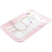 Cute Waterproof Breathable Infant Crib Sheet Baby Mat 70 x 90 CM-Pink Deer