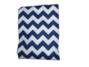 Baby Doll Chevron Fitted Sheet, Navy