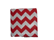Baby Doll Chevron Fitted Sheet, Red