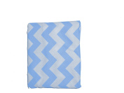 Baby Doll Chevron Fitted Sheet, Blue