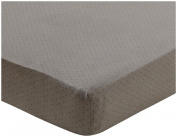 Oeuf Crib/Toddler Fitted Sheet-Black Dots, Charcoal
