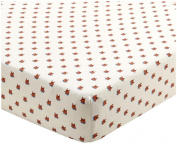 Oeuf Crib/Toddler Fitted Sheet-Fox, Light Grey