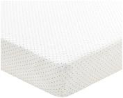 Oeuf Crib/Toddler Fitted Sheet-Indigo Dots, White