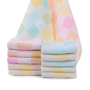JISEN® Baby Newborn Muslin Cotton Cute Square Baby Small Towels Also for Baby Nappy,Baby Shower Gifts,10 Pack