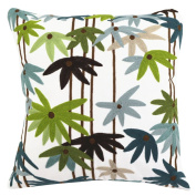 Bamboo Printed Patterned Cushion Cover ChezMax Zippered Cotton Throw Pillow Case Sham Pillowslip Square Decorative Pillowcase