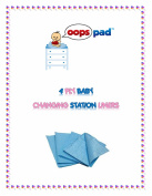 Oops Pad 4-Ply Blue Changing Station Table Liners 500ct