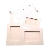 Coper® Hollow Love Wooden Photo Frame DIY Picture Frame - Art Decor - White Base