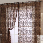 European Style Voile Tulle Room Window Curtain Sheer Voile Panel Drapes Curtain