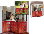 Indoor/Outdoor Classic Style Solid Wood 3 Section Pet Gate