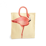Women's Flamingo Tote Bag - Cotton Canvas