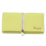 Simplechic Women's Portable Fur Wallets Yellow One Size